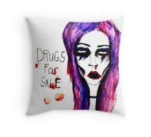 drugs for sale Throw Pillow