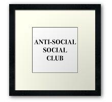 ANTI-SOCIAL SOCIAL CLUB Framed Print