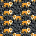 Safari Lion Pattern by Andrea Lauren by Andrea Lauren