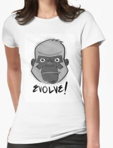 Tough Gorilla says EVOLVE! Womens Fitted T-Shirt