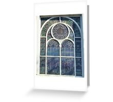ART NOUVEAU WINDOW Greeting Card