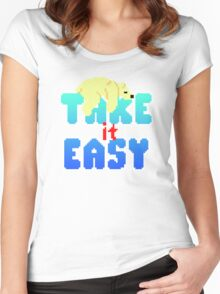 Polar Bear - Take It Easy Women's Fitted Scoop T-Shirt