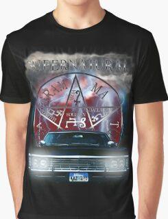 Supernatural Theme Car Graphic T-Shirt