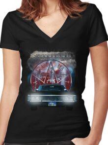 Supernatural Theme Car Women's Fitted V-Neck T-Shirt