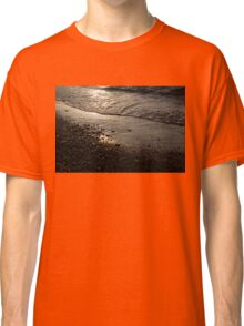 Golden Foam and Pebbles - Early Light at the Breakwater Classic T-Shirt