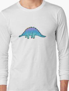 cute blue rainbow dinosaur  Long Sleeve T-Shirt