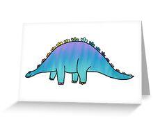 cute blue rainbow dinosaur  Greeting Card