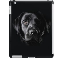 Black Lab Face  iPad Case/Skin