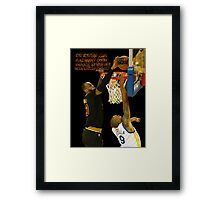 Lebron blocking the haters Framed Print