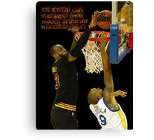 Lebron blocking the haters Canvas Print