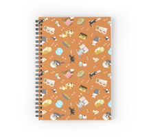 Cats Baking Cakes and other Sweets, in Orange Spiral Notebook