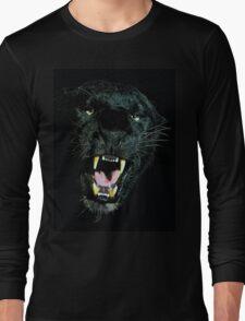 Black Panther Face Long Sleeve T-Shirt