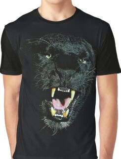 Black Panther Face Graphic T-Shirt