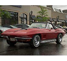 Rainy Day Corvette  Photographic Print