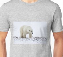 Polar Bear On The Prowl. Churchill, Canada Unisex T-Shirt