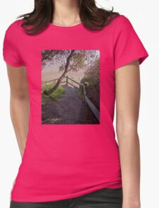 Steps to Spooky Beach, Angourie Womens Fitted T-Shirt