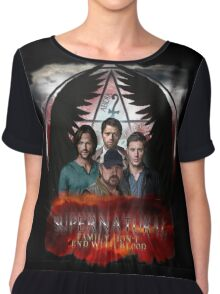 Supernatural Family Dont end with blood 2 Chiffon Top