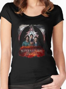 Supernatural Family Dont end with blood 2 Women's Fitted Scoop T-Shirt