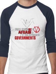 V FOR VENDETTA MOVIE GUY FAWKES CONSPIRACY QUOTE  Men's Baseball ¾ T-Shirt