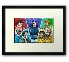 Get in the robot Shiro Framed Print