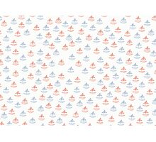 red and blue sail boats Photographic Print