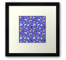 Cats Baking Cakes and other Sweets, in Blue Framed Print