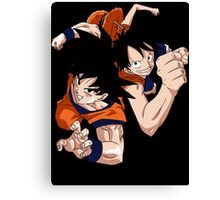 Super Saiyan Goku Luffy - RB00538 Canvas Print