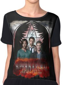 Supernatural Family Dont end with blood Chiffon Top