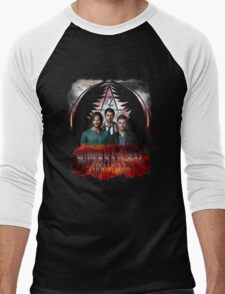 Supernatural Family Dont end with blood Men's Baseball ¾ T-Shirt
