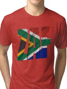 ZAF - South Africa Flag Tri-blend T-Shirt