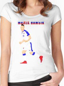 MAREK HAMSIK SLOVAKIA, EURO, VECTOR Women's Fitted Scoop T-Shirt