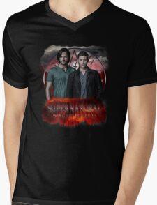 Supernatural Winchester Bros Mens V-Neck T-Shirt