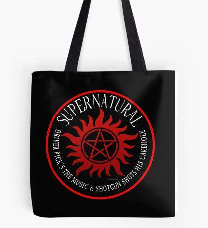 Supernatural Driver pricks the music  Tote Bag