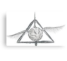 Deathly Hallows Snitch Metal Print
