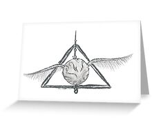 Deathly Hallows Snitch Greeting Card