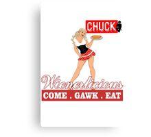 Wienerlicious Sarah Chuck TV Canvas Print