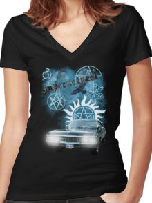 Supernatural theme 2 Women's Fitted V-Neck T-Shirt