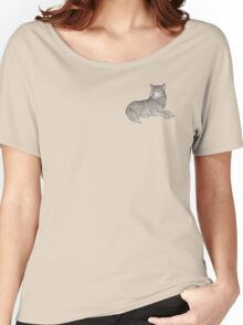 Watchful Wolf  Women's Relaxed Fit T-Shirt