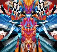 Mirror Image Abstract Sticker