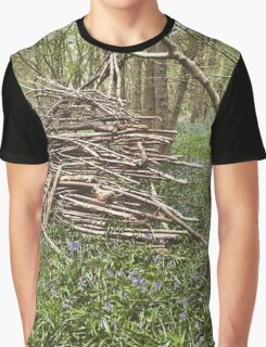 Rustic Forest Triangle Photography Graphic T-Shirt