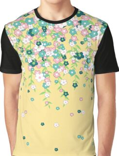 Wafting Spring Flower Vines in Fluttershy Colors Graphic T-Shirt