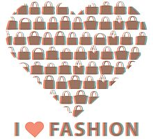 Silhouettes women's handbags in  composition of  heart  by Tatiakost