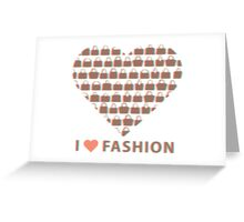 Silhouettes women's handbags in  composition of  heart  Greeting Card