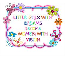 Little Girls With Dreams Photographic Print