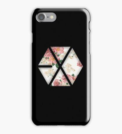 EXO Black Floral iPhone Case/Skin