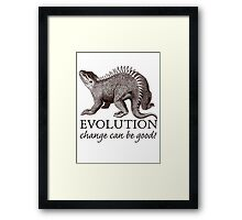Evolution Dinosaur Humor Framed Print