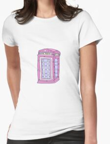 love portal phone booth Womens Fitted T-Shirt
