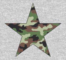 Camouflage Military Star Kids Tee