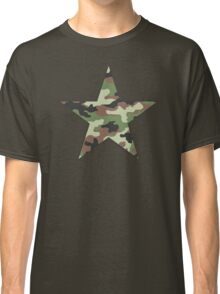Camouflage Military Star Classic T-Shirt