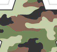 Camouflage Military Star Sticker